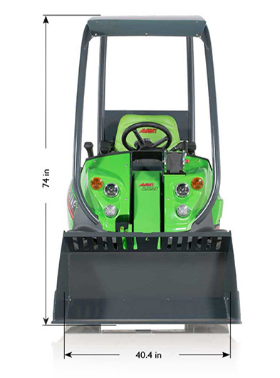 200 series mini loader from the front