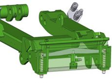 Hydraulic attachment coupling plate