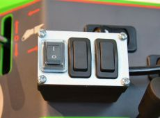 Control switch pack for rear mounted attachments